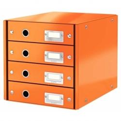 Pojemnik z 4 szufladami Leitz C&S pomarańczowy