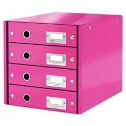 Pojemnik z 4 szufladami Leitz C&S różowy
