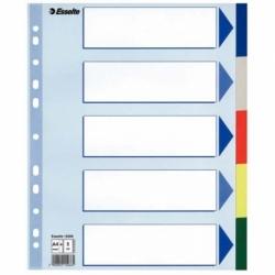 Przekładki plastikowe PP Esselte Maxi A4, 5 kart.