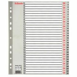Przekładki plastikowe szare Maxi Esselte 1-31