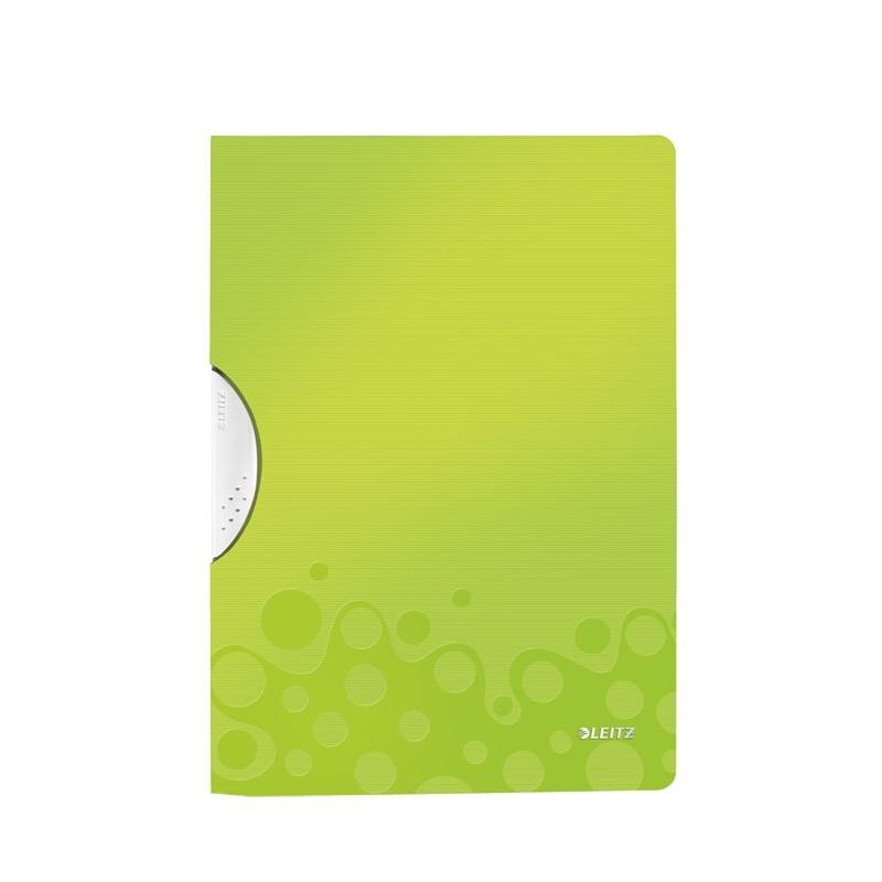 Skoroszyt z klipsem A4 Leitz WOW zielony