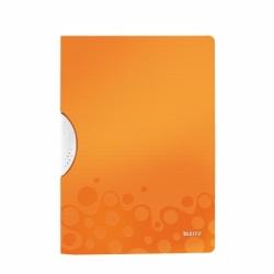 Skoroszyt z klipsem A4 Leitz WOW pomarańczowy