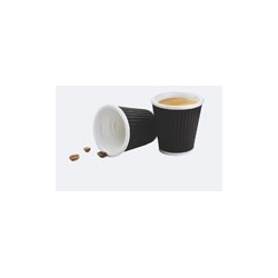 Kubek porcelanowy 100ml, 2szt, czarny