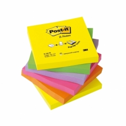 Karteczki samoprzylepne Post-it Z-Notes R330-NR neonowy, 76x76 mm, 6 x 100 k