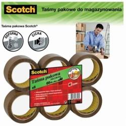 Taśma pakowa Scotch do magazynowania 50 mm x 66m, brązowa - 1 SZTUKA