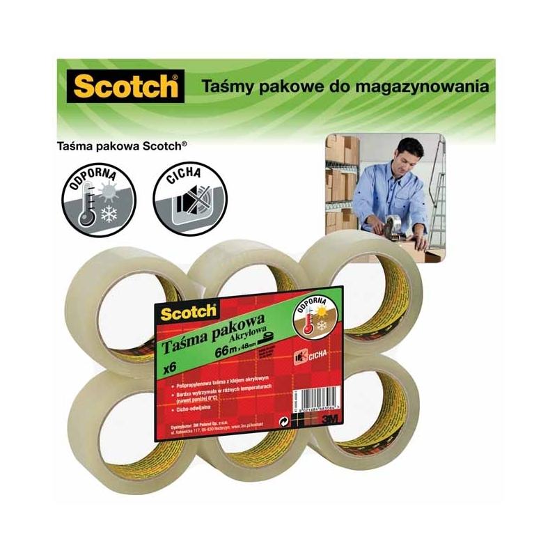 Taśma pakowa Scotch do magazynowania 50 mm x 66m, przezroczysta - 1 SZTUKA