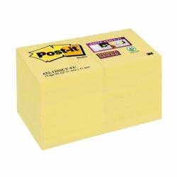 Karteczki samoprzylepne Post-it Super Sticky, 51x51mm, żółte 90 kart x 12