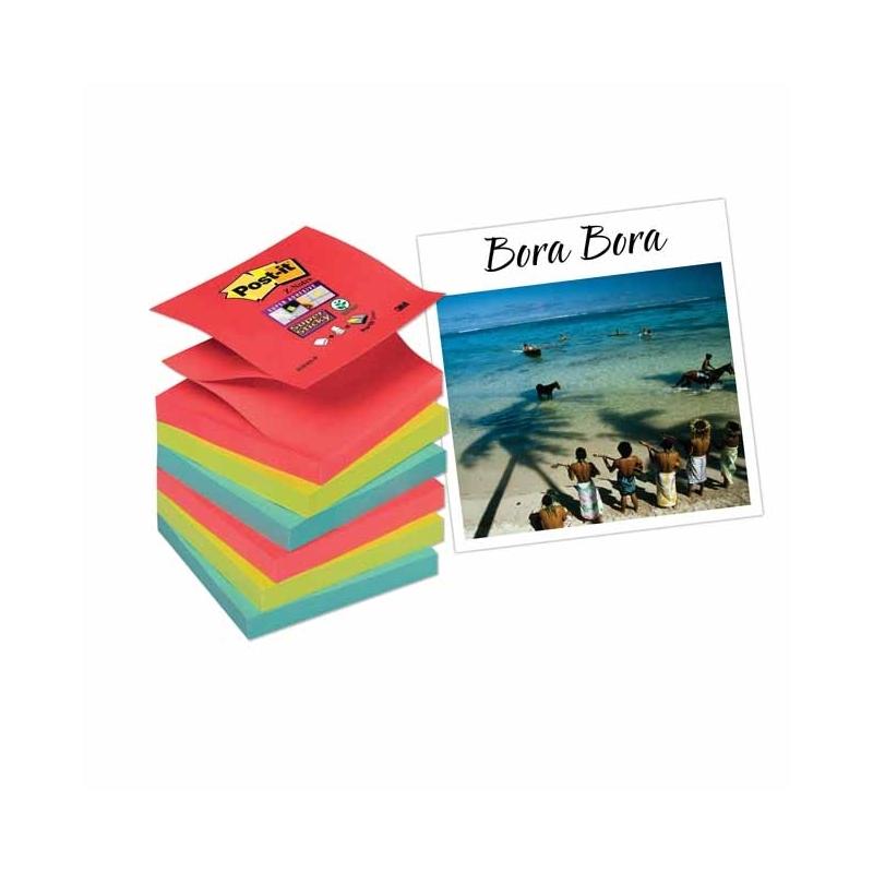 Karteczki samoprzylepne Post-it Z-Notes Super Sticky 6 bloczkテウw 76x76 mm Bora-Bora
