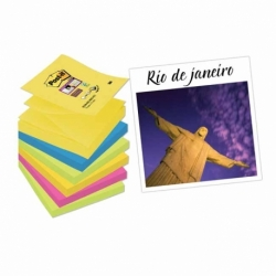 Karteczki samoprzylepne Post-it Z-Notes Super Sticky 6 bloczków , 76x76mm Rio