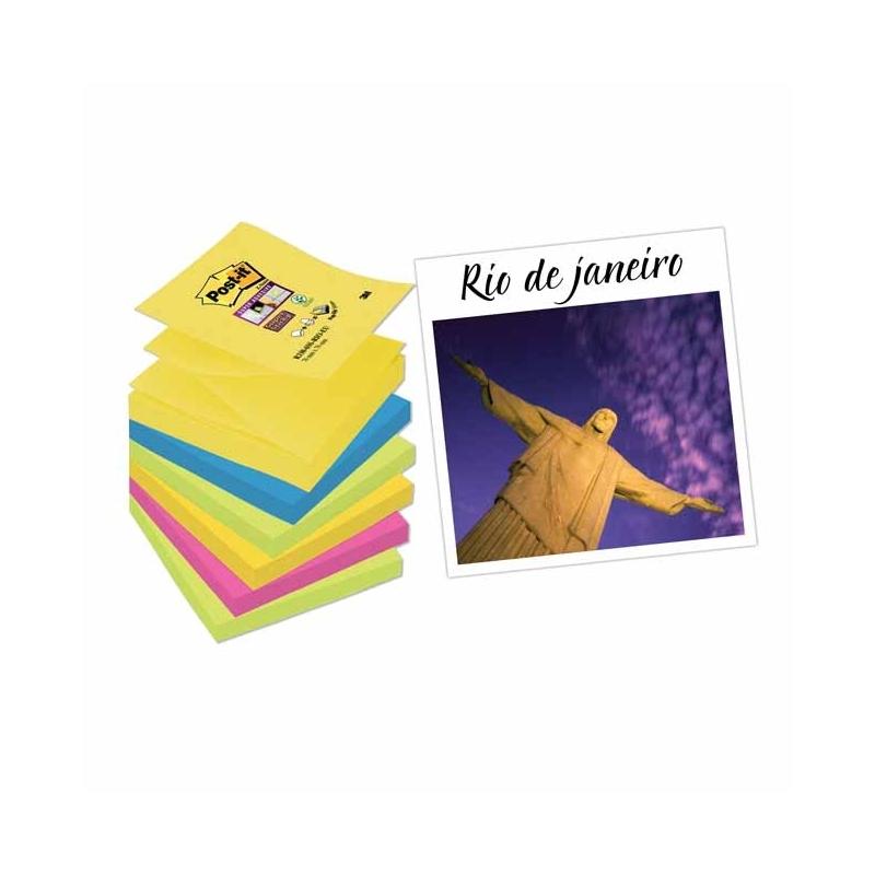 Karteczki samoprzylepne Post-it Z-Notes Super Sticky 6 bloczków , 76x76mm Rio
