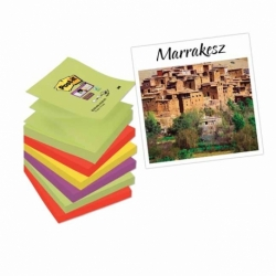 Karteczki samoprzylepne Post-it Z-Notes Super Sticky 6 bloczków 76x76mm Marrakaesh