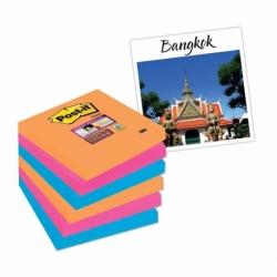 Karteczki samoprzylepne Post-it Super Sticky 76x76mm,  6 bloczków