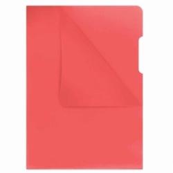 Ofertówka twarda kolorowa Donau A4, krystaliczna 180mic, opak. 100 szt czerwona