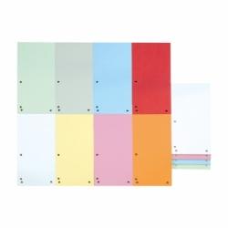 Przekładki kartonowe indeksujące 1/3 A4 Donau mix kolorów