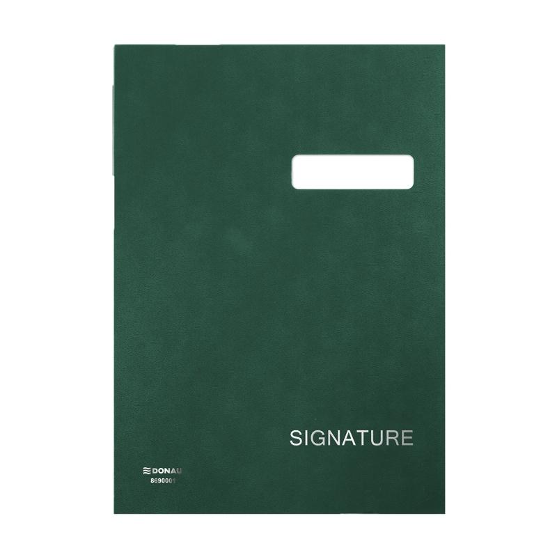Teczka do podpisu Donau A4/20 przekładek zielona