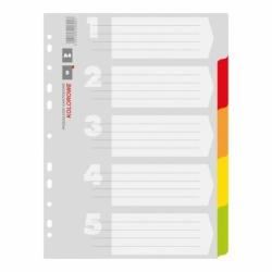 Przekładki kartonowe A4 Office Products 5 kart.