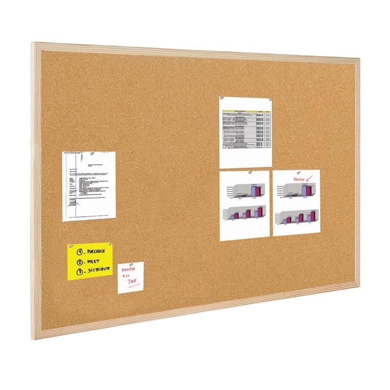 Tablica korkowa Bi-Office w ramie drewnianej 70x50cm