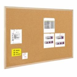 Tablica korkowa Bi-Office w ramie drewnianej 100x100cm