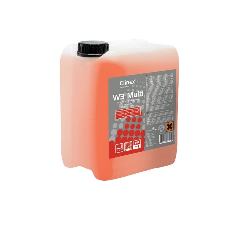 Preparat do mycia sanitariatテウw Clinex W3 Multi 5 litrテウw, skoncentrowany