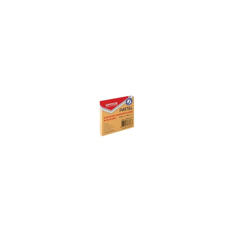 Karteczki samoprzylepne Office Products pastelowe pomarańczowe, 76x76mm, 100 k
