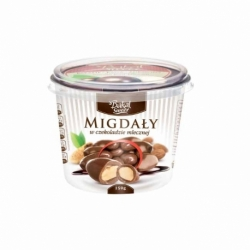 Bakalie w czekoladzie mlecznej 150g, migdały