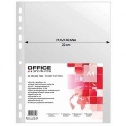 Koszulka A4 poszerzana Office Products A4+, groszkowa, 90mic, opak 50 szt