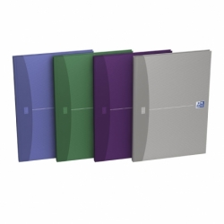 Brulion Oxford Essentials A4/96k kratka, twarda laminowana oprawa