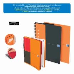 Kołonotatnik Oxford Activebook A4+/80k krata, okładka PP