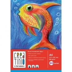 Blok rysunkowy Creatino biały, 90g, A4, 20 kart.