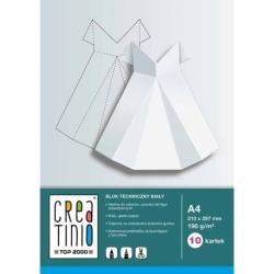 Blok techniczny Creatino biały, 170g, A4, 10 kart.