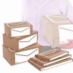 Pudło pocztowe Elba brązowe, A4+ 340 x 230 x 140 mm