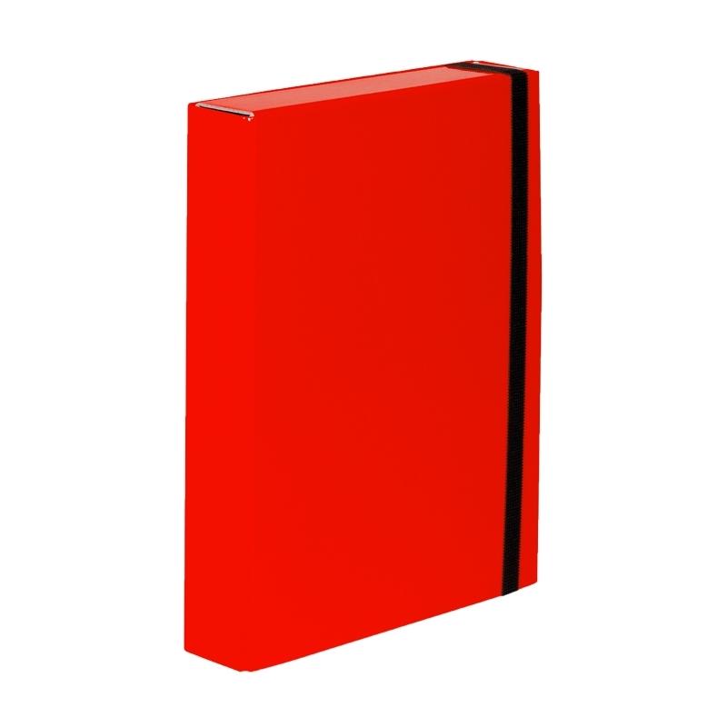 Teczka z gumkト� A4 Vaupe Caribic Box czerwona