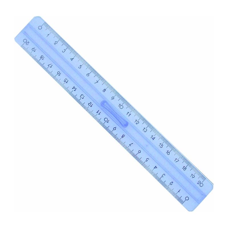 Linijka plastikowa Pratel z uchwytem 20 cm
