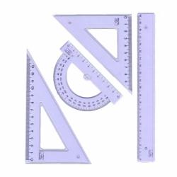 Zestaw kreślarski Pratel z linijką 20 cm
