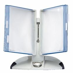 System prezentacyjny TARIFOLD OFFICE Biurkowy z panelami niebieskimi