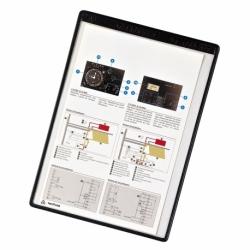 Magnetyczne panele prezentacyjne Tarifold A4 czarne, opak.5szt