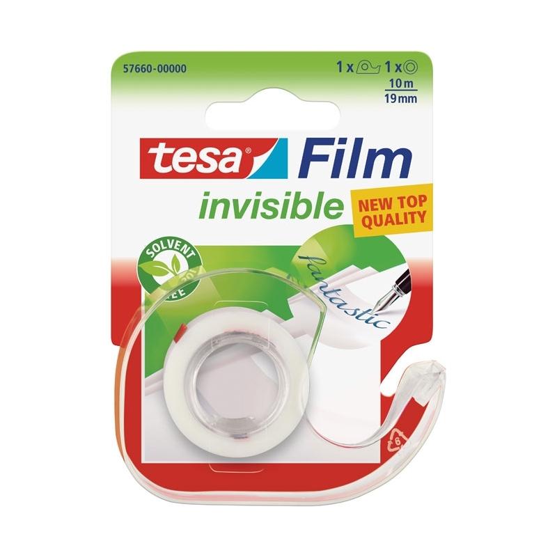 Taナ嬶a klejト�ca invisible Tesa z dyspenserem 19mm x 10m