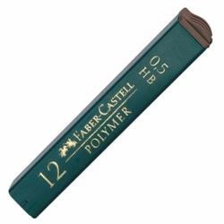 Grafity do ołówków Faber Castell Polymer, 12 szt. 0,5 mm / 2B