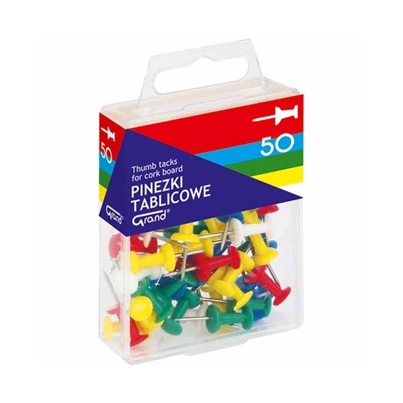Pinezki koナFczki Grand mix kolorテウw, opak. 50 szt.