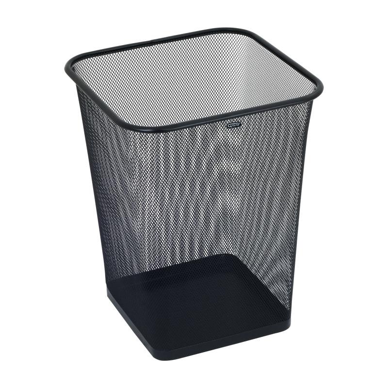 Kosz na papier kwadratowy GRAND 18 litrテウw, czarny