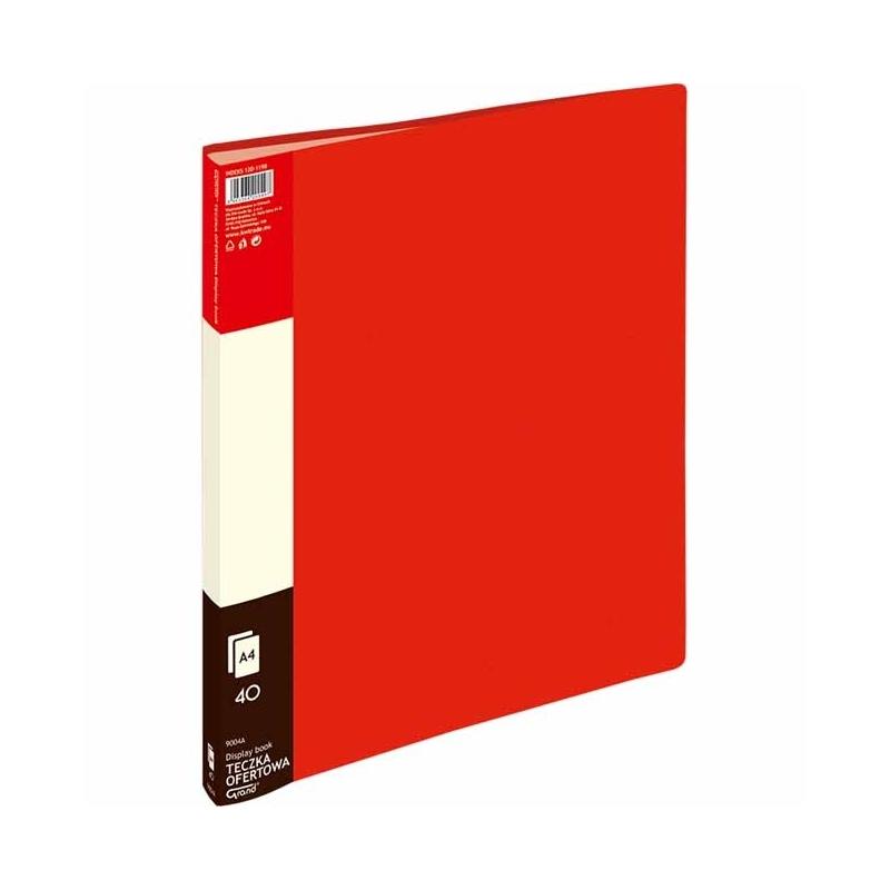 Album ofertowy A4 Grand 40 koszulek czerwony