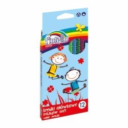 Kredki ołówkowe Super Soft Fiorello 12 kolorów