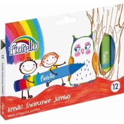 Kredki świecowe Fiorello 12 kolorów Jumbo
