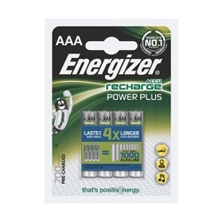Akumulatorki Energizer Power Plus HR3, AAA, 1,2V, 700mAh, opak. 4 szt.