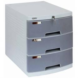 Pojemnik plastikowy z szufladami Grand 3 szuflady
