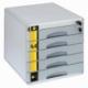 Pojemnik/szafka na dokumenty Yellow One, 5 szuflad, na klucz