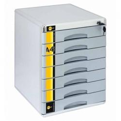 Pojemnik metalowa z szufladami Yellow One 7 szuflad