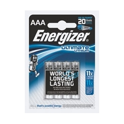Baterie Energizer Ultimate Lithium FR3 AAA, 1,5V, blister 4 szt.