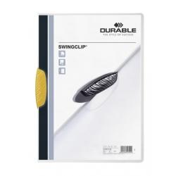 Skoroszyt zaciskowy A4 Swingclip do 30 kartek żółty