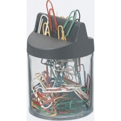 Pojemnik magnetyczny na spinacze Durable + 26 spinaczy 26mm kolorowych